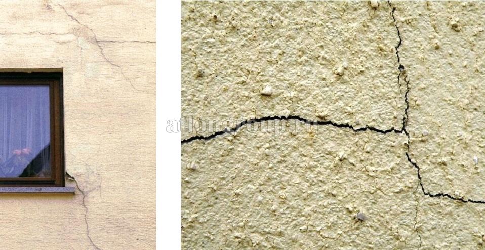 Трещины на фасаде фото 2